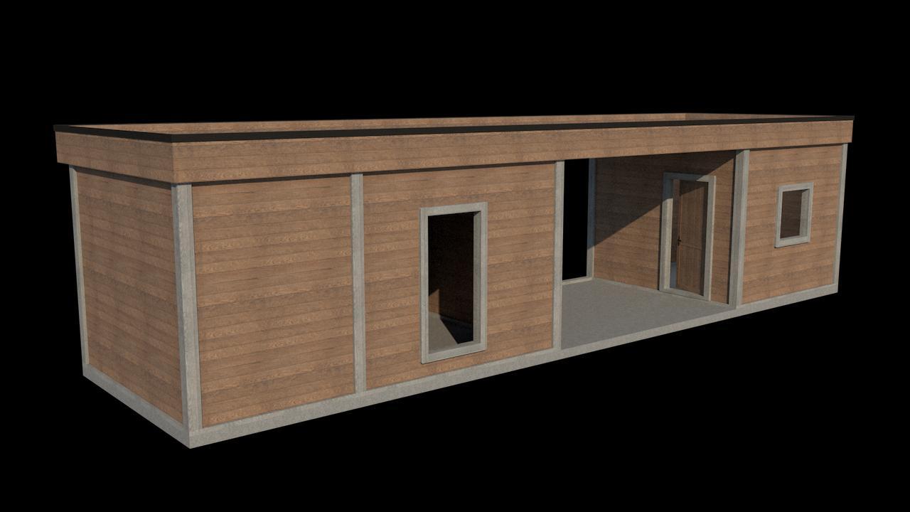 Vizualizácia záhradnej chatky II