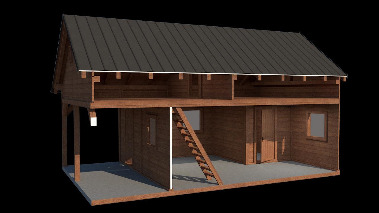 Vizualizácia záhradnej chatky III